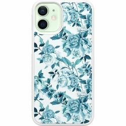 Apple iPhone 12 mini Soft Case (Vit) Blommor