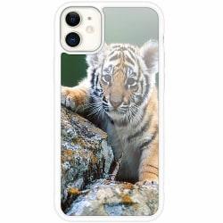 Apple iPhone 12 mini Vitt Mobilskal med Glas Tiger
