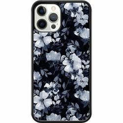 Apple iPhone 12 Pro Hard Case (Svart) Blommor