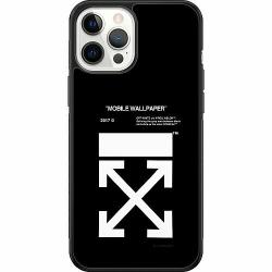 Apple iPhone 12 Pro Max Soft Case (Svart) White Off