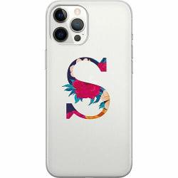 Apple iPhone 12 Pro Max Thin Case Bokstaven - S