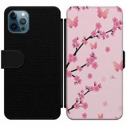 Apple iPhone 12 Pro Max Wallet Slim Case Blommor