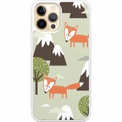 Apple iPhone 12 Pro Soft Case (Vit) Alpine Foxes. Also Cute.