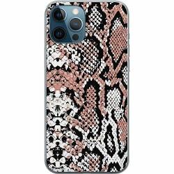 Apple iPhone 12 Pro Mjukt skal - Rosé Snake