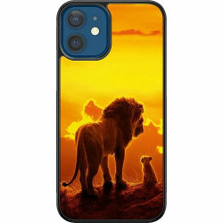 Apple iPhone 12 Soft Case (Svart) Lion sun