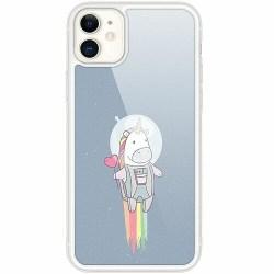 Apple iPhone 12 Transparent Mobilskal med Glas Unicorn
