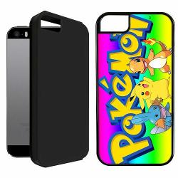 Apple iPhone 5 / 5s / SE Duo Case Svart Pokemon