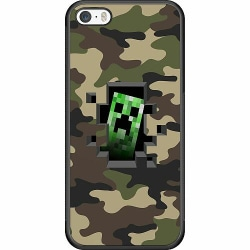 Apple iPhone 5 / 5s / SE Soft Case (Svart) Minecraft