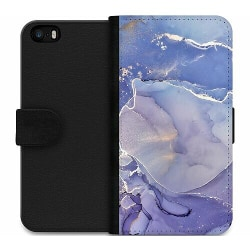Apple iPhone 5 / 5s / SE Wallet Case Azure Velour
