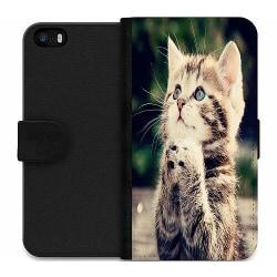 Apple iPhone 5 / 5s / SE Wallet Case Katt