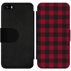 Apple iPhone 5 / 5s / SE Wallet Slim Case Checkered Flannel