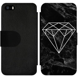 Apple iPhone 5 / 5s / SE Wallet Slim Case Marmor Diamant