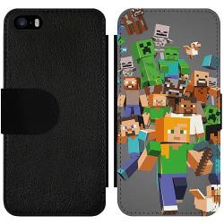 Apple iPhone 5 / 5s / SE Wallet Slim Case Mönster