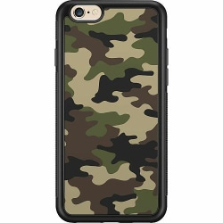 Apple iPhone 6 / 6S Soft Case (Svart) Woodland Camo