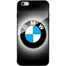 Apple iPhone 6 Plus / 6s Plus Svart Mobilskal med Glas BMW
