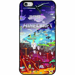 Apple iPhone 6 Plus / 6s Plus Svart Mobilskal med Glas MineCraft