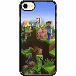 Apple iPhone 7 Hard Case (Svart) MineCraft