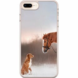 Apple iPhone 7 Plus Hard Case (Transparent) Dog Meets Horse