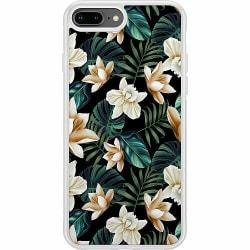Apple iPhone 8 Plus Soft Case (Vit) Blommor