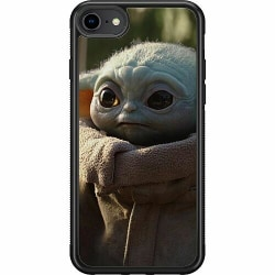 Apple iPhone 7 Soft Case (Svart) Baby Yoda