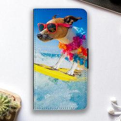 Huawei P40 Lite E Fodralskal Surfer Dog