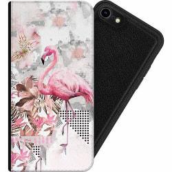 Apple iPhone 8 Magnetic Wallet Case Flamingo