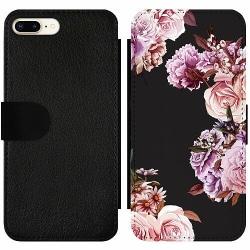 Apple iPhone 7 Plus Wallet Slim Case Blommor