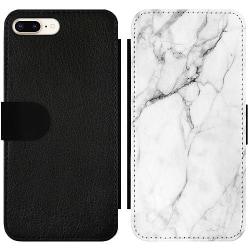 Apple iPhone 7 Plus Wallet Slim Case Marmor