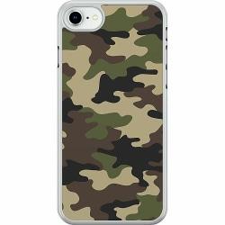 Apple iPhone SE (2020) Hard Case (Transparent) Woodland Camo