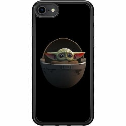 Apple iPhone SE (2020) Soft Case (Svart) Baby Yoda