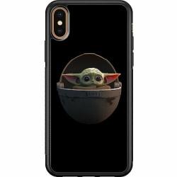 Apple iPhone X / XS Soft Case (Svart) Baby Yoda