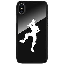 Apple iPhone X / XS Svart Mobilskal med Glas Fortnite Dance