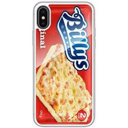 Apple iPhone X / XS Transparent Mobilskal med Glas Pizza