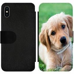 Apple iPhone X / XS Wallet Slim Case Hund