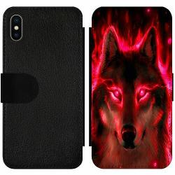 Apple iPhone X / XS Wallet Slim Case Statement Wolf 1055