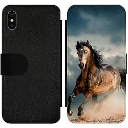 Apple iPhone X / XS Wallet Slim Case Häst