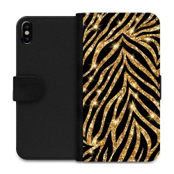 Apple iPhone XS Max Wallet Case Gold & Glitter