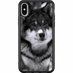 Apple iPhone XS Max Soft Case (Svart) Wolf