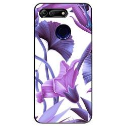 Huawei Honor View 20 Soft Case (Svart) Lilac Bloom
