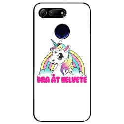 Huawei Honor View 20 Soft Case (Svart) Unicorn - Dra Åt @!#