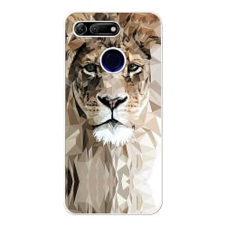Huawei Honor View 20 Soft Case (Vit) Abstract Lion