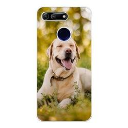 Huawei Honor View 20 Vitt Mobilskal Happy Labrador Retriever