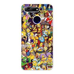 Huawei Honor View 20 Vitt Mobilskal Simpsons