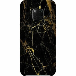 Huawei Mate 20 Pro Thin Case Marble Black&Gold