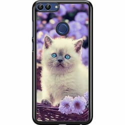 Huawei P Smart (2018) Hard Case (Svart) Cute Kitten