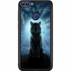 Huawei P Smart (2018) Soft Case (Svart) Wolf in the Dark