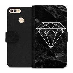 Huawei P Smart (2018) Wallet Case Marmor Diamant