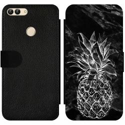 Huawei P Smart (2018) Wallet Slim Case Marmor Ananas