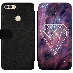 Huawei P Smart (2018) Wallet Slim Case Galaxy Diamant