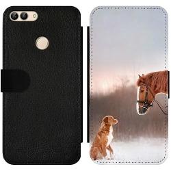Huawei P Smart (2018) Wallet Slim Case Häst & Hund